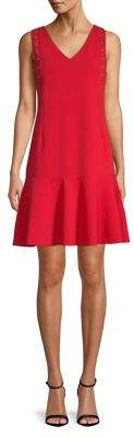 Ellen Tracy Petite Embellished A-Line Dress