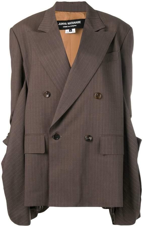 loose-fit draped blazer