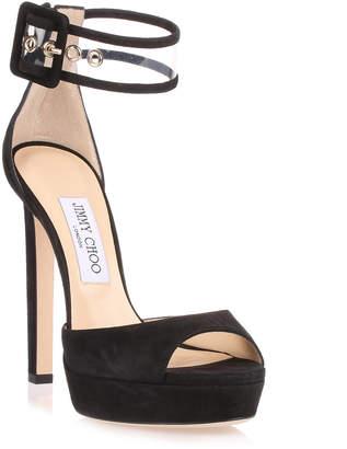 Jimmy Choo Mayner 130 black suede sandal