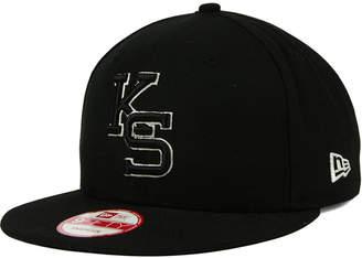 New Era Kansas State Wildcats Black White Fashion 9FIFTY Snapback Cap