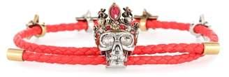Alexander McQueen Queen leather bracelet