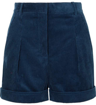 Stella McCartney Cotton-corduroy Shorts - Blue