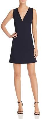 Theory V-Neck Seamed Shift Dress