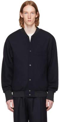 Lemaire Navy Teddy Bomber Jacket