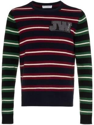 J.W.Anderson logo stripe wool jumper