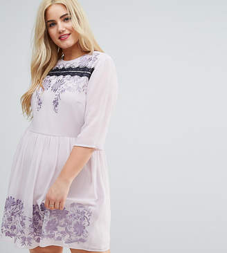 Asos PREMIUM Eyelash Lace Mini Dress with Embroidery