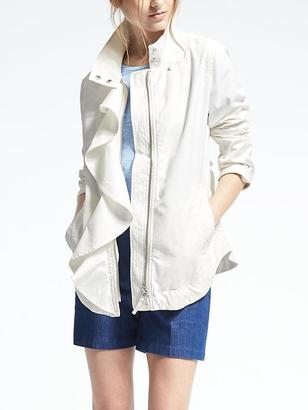 Ruffle Cotton Jacket $148 thestylecure.com