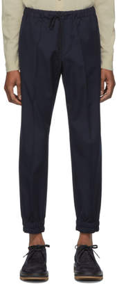 Dries Van Noten Navy Perkino Trousers
