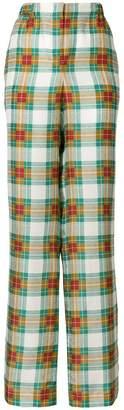 Alberta Ferretti plaid high-waist trousers