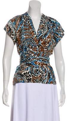 Christian Dior Silk Print Blouse