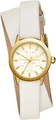 Tory Burch Gigi Double Wrap Leather Strap Watch, 28mm