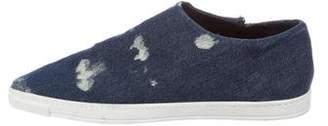 Stella McCartney Denim Slip-On Sneakers