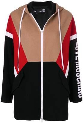 Love Moschino zipped logo hoodie