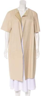 Marni Short Sleeve Leather Coat