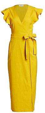 A.L.C. Women's Walker Ruffle-Sleeve Tie Wrap Dress