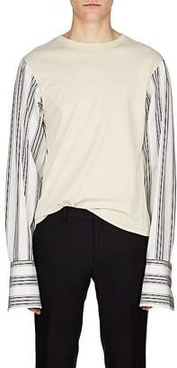 Dries Van Noten Men's Contrast-Sleeve Cotton T-Shirt
