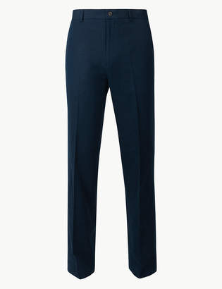 Marks and Spencer Textured Regular Fit Linen Trousers