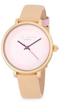 Ted Baker Isla Stainless Steel Quartz Analog Leather-Strap Watch