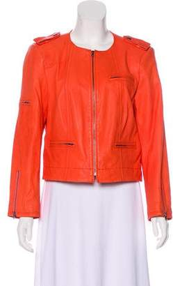 Alice + Olivia Leather Zip-Up Jacket w/ Tags