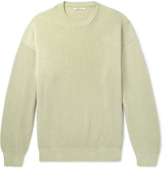 Auralee - Ribbed Wool and Silk-Blend Sweater - Men - Green