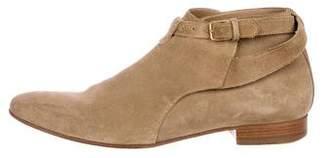 Saint Laurent Suede Jodhpur Ankle Boots