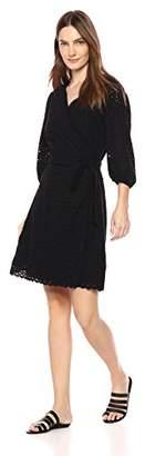 Velvet by Graham & Spencer Women's Merina Cotton Eyelet Wrap Dress