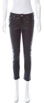 Acne Studios Mid-Rise Leather Pants