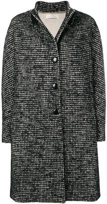 Mantu checked single breasted coat