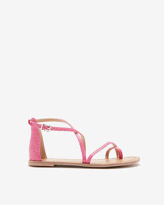 Express Snakeskin Ankle Strap Sandals