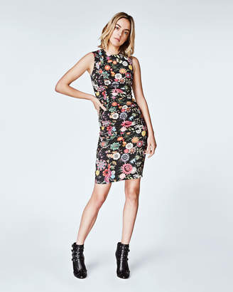 Nicole Miller Floral Nectary Tuck Dress