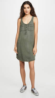Splendid Linen Cargo Tank Dress