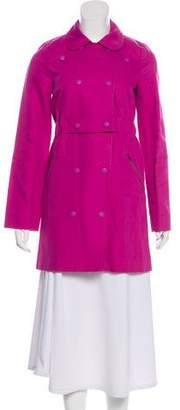 See by Chloe Linen-Blend Knee-Length Coat