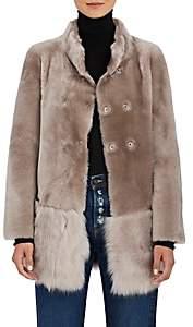 Barneys New York Women's Fur Coat-Beige, Tan