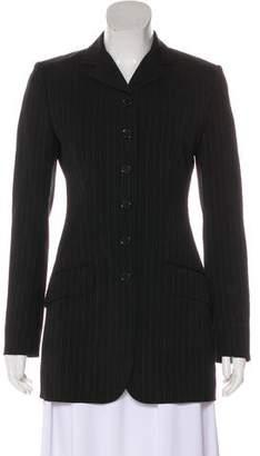 Dolce & Gabbana Wool Pinstripe Coat