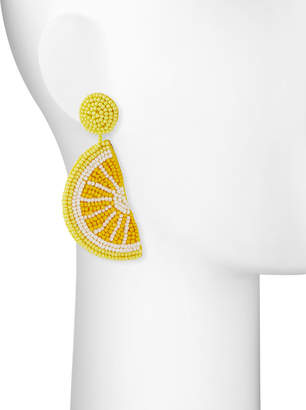 Kenneth Jay Lane Lemon Seed Bead Dangle Earrings