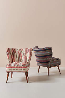 Anthropologie Cheyenne-Striped Woven Petite Accent Chair