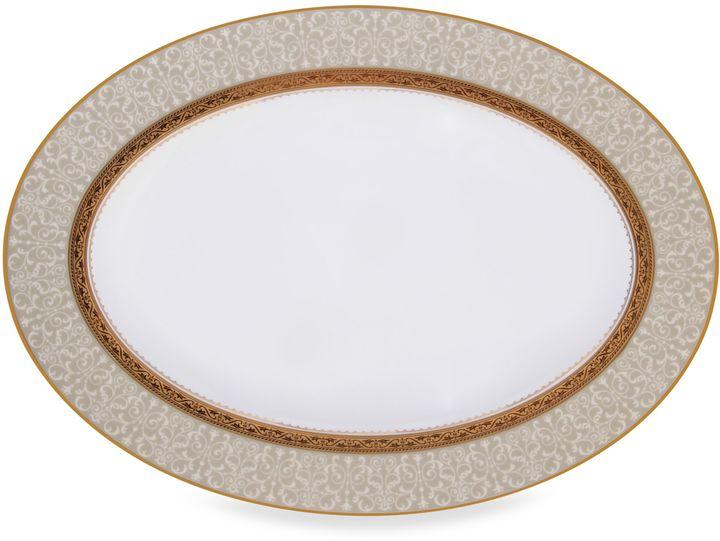 NoritakeNoritake® Odessa Gold 14-Inch Oval Platter