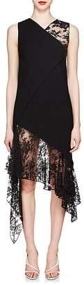 Givenchy Women's Mixed-Media Wool Midi-Dress