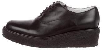 Celine Leather Platform Oxfords