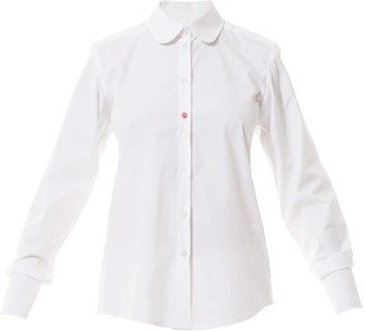 Talented Round Collar White Shirt Blouse