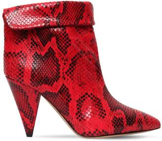 Isabel Marant 90mm Lisbo Python Printed Leather Boots