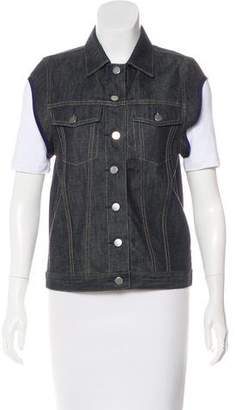 Sacai Denim Button-Up Vest