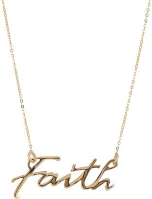 "Karat Rush 10K Yellow Gold 18"" Faith Pendant Necklace"