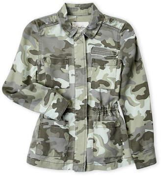 Jessica Simpson Girls 7-16) Camouflage Utility Jacket