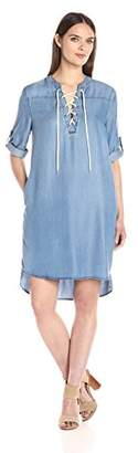 Nine West Women's Enya Lace up Dress