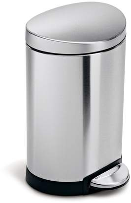 Simplehuman 6L Semi-Round Step Trash Can Stainless Steel