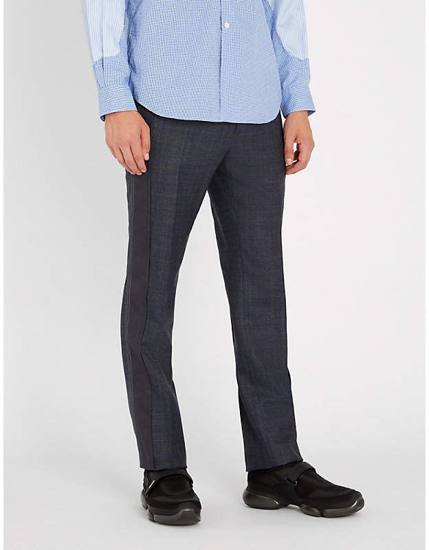 Lanvin Panelled regular-fit wool trousers