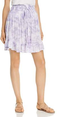 Tiare Hawaii Lily Rose Shirred Tie-Dyed Mini Skirt