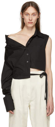 Ann Demeulemeester Black Asymmetric Byron Shirt