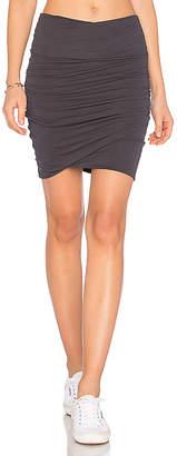 James Perse High Waist Wrap Skirt